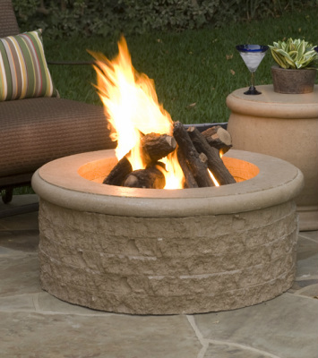 Chiseled Fire Pit - American Fyre Designs - Outdoor Kitchens by Lighting Concepts