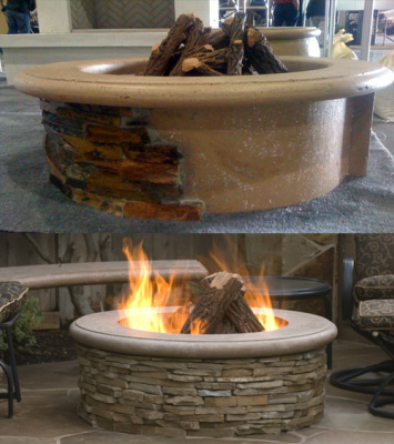 Contractor's Fire Pit - American Fyre Designs - Outdoor Kitchens by Lighting Concepts