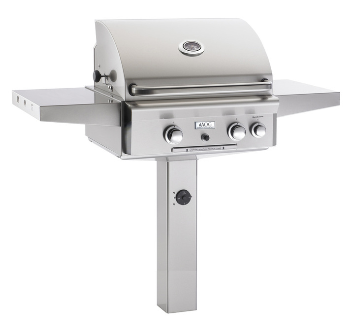 In-ground Post Grill - American Outdoor Grill - Outdoor Kitchens by Lighting Concepts